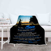 """I'll Always Be There For You"" Customized Blanket For Son"