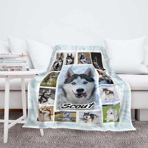 Photo Collage Blanket For Dogs