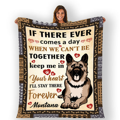 """I Will Stay There Forever"" Custom Blanket For Dogs"