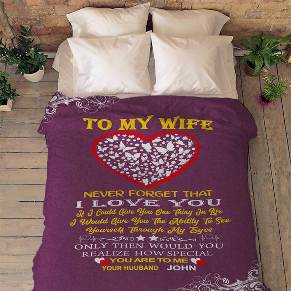"""For My Lovely  Wife "" Premium Customized Blanket"