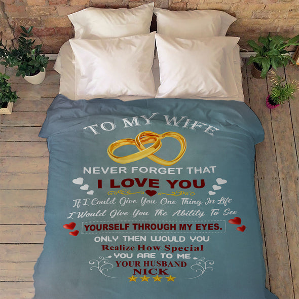 """For My Lovely  Wife "" Premium Customized Cozy Blanket"