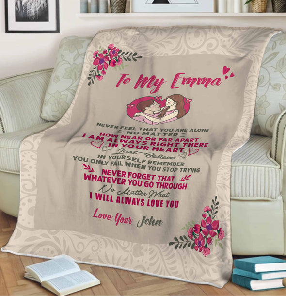 """I Will Always Love You"" Customized Blanket For Couple"