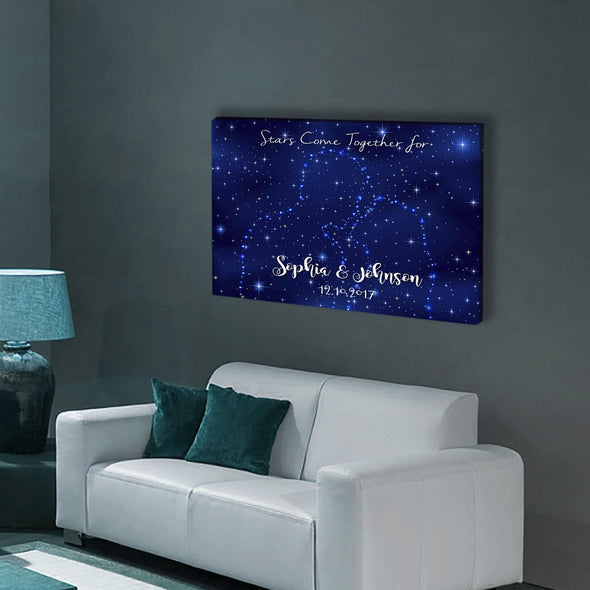 """Stars Come Together For Us"" Customized Wall Art"