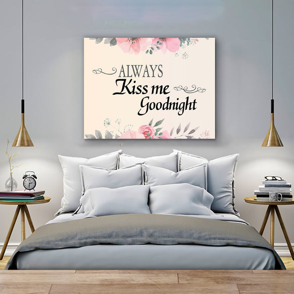 Goodnight Wall Canvas For Bedroom