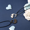 Yin Yang Titanium Kitty Best Couple Necklace