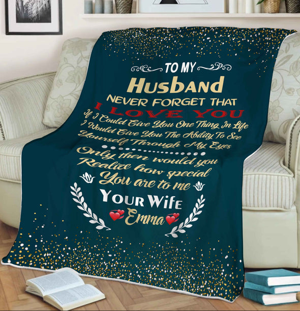 """How Special You Are To Me"" Customized Blanket For Husband"