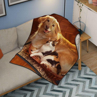 Custom Pet Photo Blanket For Pet Lovers