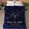"""Our Love Is Written In Stars"" Custom Couple Blanket"