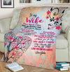 """Love You Always"" Customized Cozy Blanket For Couple"