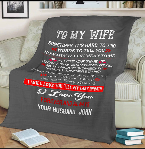 "Personalized ""You Are Every Thing To Me"" Premium Customized Blanket"