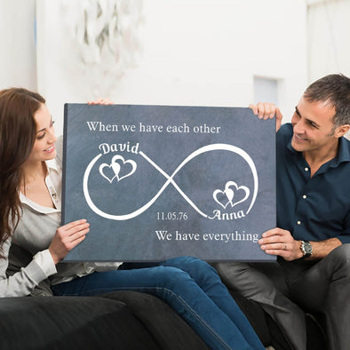 Each Other Infinity Personalized Premium Wall Art