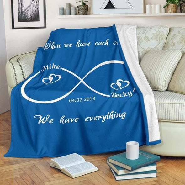 Infinity Love Personalized Blanket