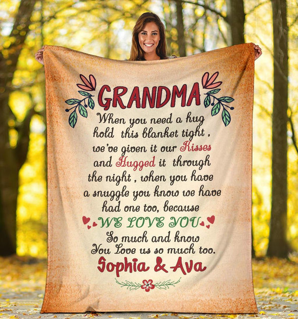 Grandma Quote Personalized Blanket