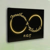 Custom Golden Infinity Love Canvas