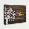 Personalized Wooden Wall Canvas For Couple