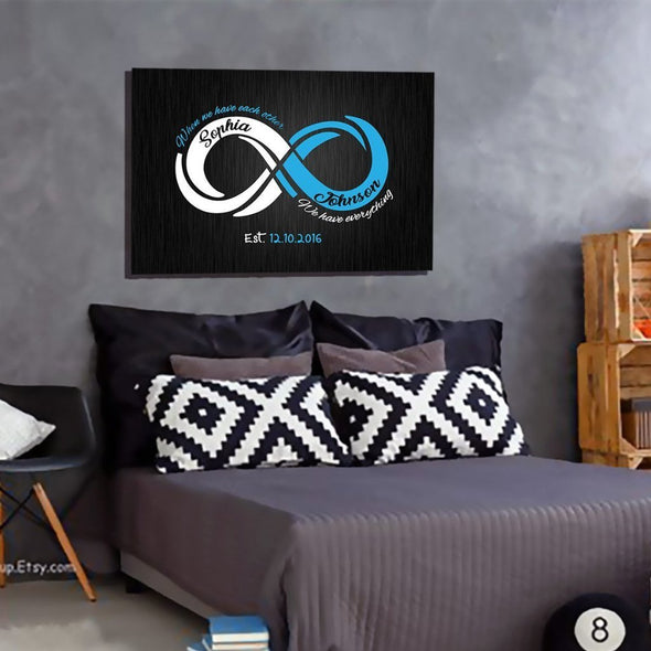 """When We Have Each Other"" Customized Infinity Canvas"