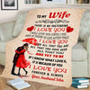 """I Love You For All That You Are"" Customized Blanket For Wife"