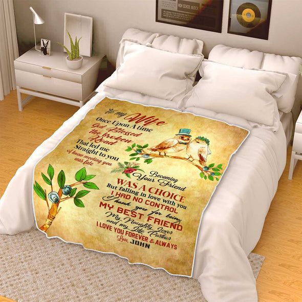 Once Upon A Time God Blessed The Broken Road Fleece Blanket