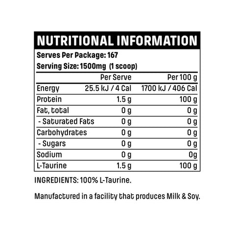 Emrald Labs L-Taurine Nutritional Panel