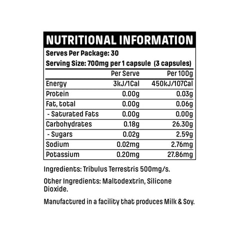 Emrald Labs Tribulus Nutritional Panel