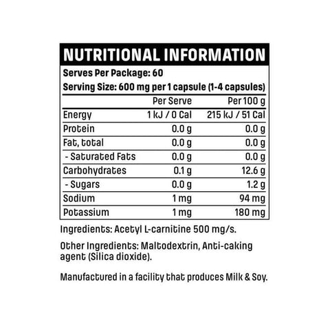 Emrald Labs L-Carnitine Nutritional Panel