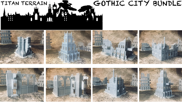 Gothic City Small Bundle - 8mm Scale