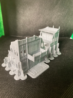 CLEARANCE - 2 Level Large Gothic Building Ruins - 8mm Scale