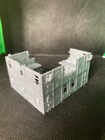 CLEARANCE - 2 Level Large Gothic Factory Ruin - 8mm Scale
