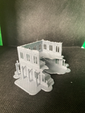 CLEARANCE - 2 Level Gothic Skyscraper Ruins - 8mm Scale