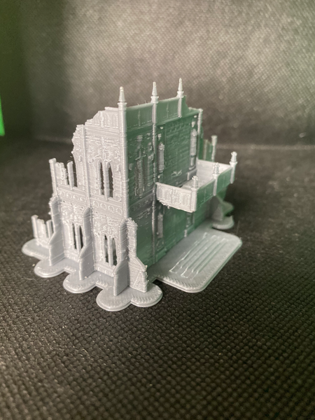 CLEARANCE - 2 Level Gothic Shrine B Ruins - 8mm Scale