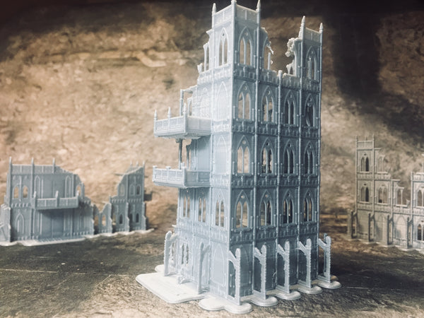 6 Level Gothic Skyscraper Ruins - 8mm Scale