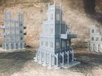 4 Level Gothic Building Ruins - 8mm Scale