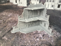2 Level Gothic Shrine A Ruins - 8mm Scale