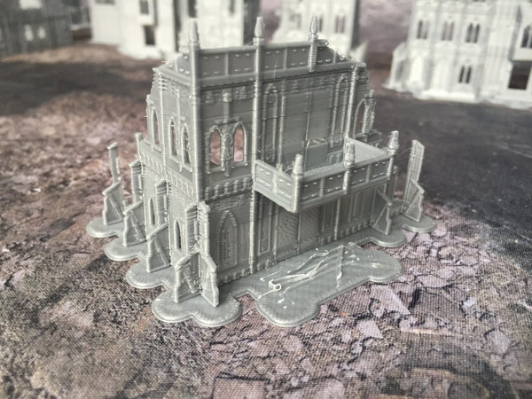 2 Level Gothic Shrine B Ruins - 8mm Scale