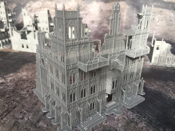 Gothic Cathedral Ruins - 8mm Scale