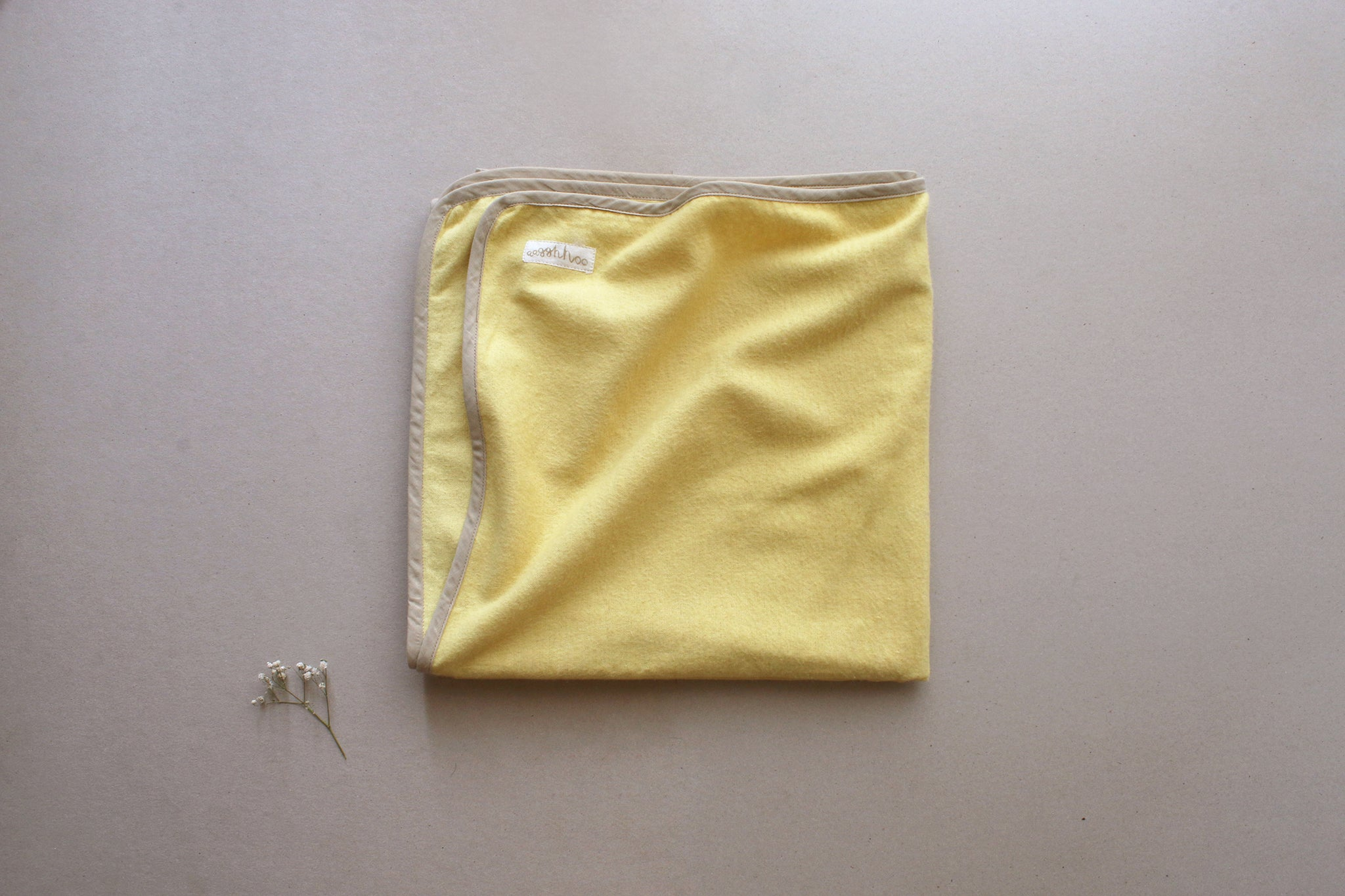 Turmeric Yellow Cotton Flannel Baby/Toddler Blanket
