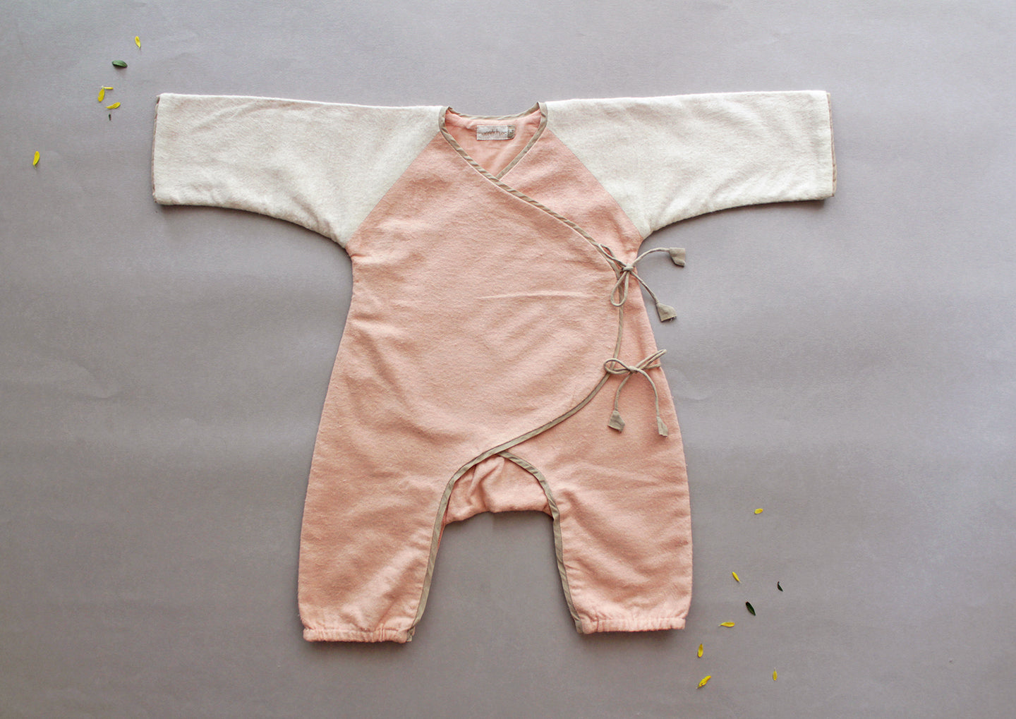 Warm Snuggle Winter BodySuit - Pale Rose
