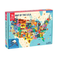 Load image into Gallery viewer, USA Map Puzzle - 70 pc