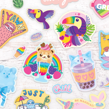 Load image into Gallery viewer, Fluffy Cotton Candy Scented Stickers