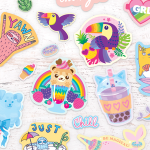 Fluffy Cotton Candy Scented Stickers