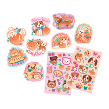 Load image into Gallery viewer, Scented Scratch Stickers: Puppies & Peaches
