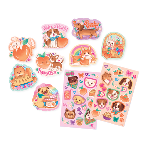 Scented Scratch Stickers: Puppies & Peaches