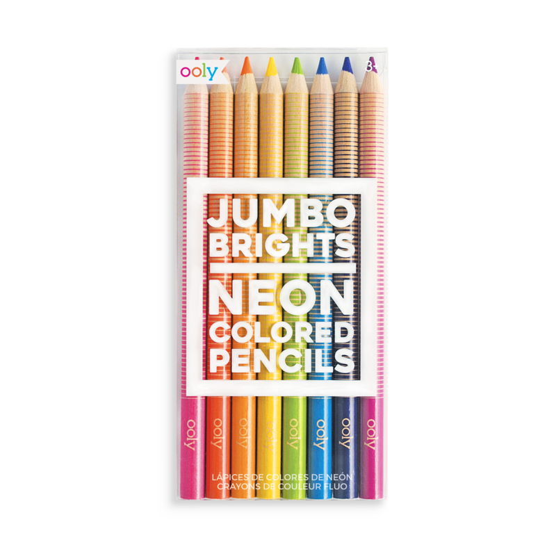 Jumbo Brights Neon Colored Pencils - chunky - set of 8