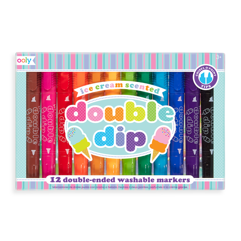 Double Dip Ice Cream Scented Markers (Set of 12)