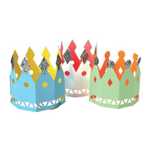 Load image into Gallery viewer, 8 Paper Party Crowns