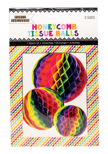 Rainbow Honeycomb Tissue Balls