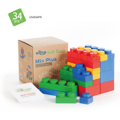 Mix Plus Soft Building Blocks 34pcs