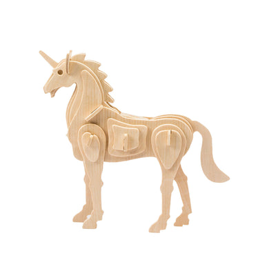 3D Wooden Puzzle: Unicorn