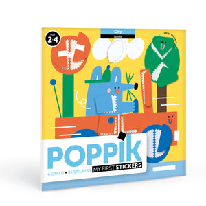 Poppik Baby In The City 6 Cards + 96 Stickers (2 Years and up)