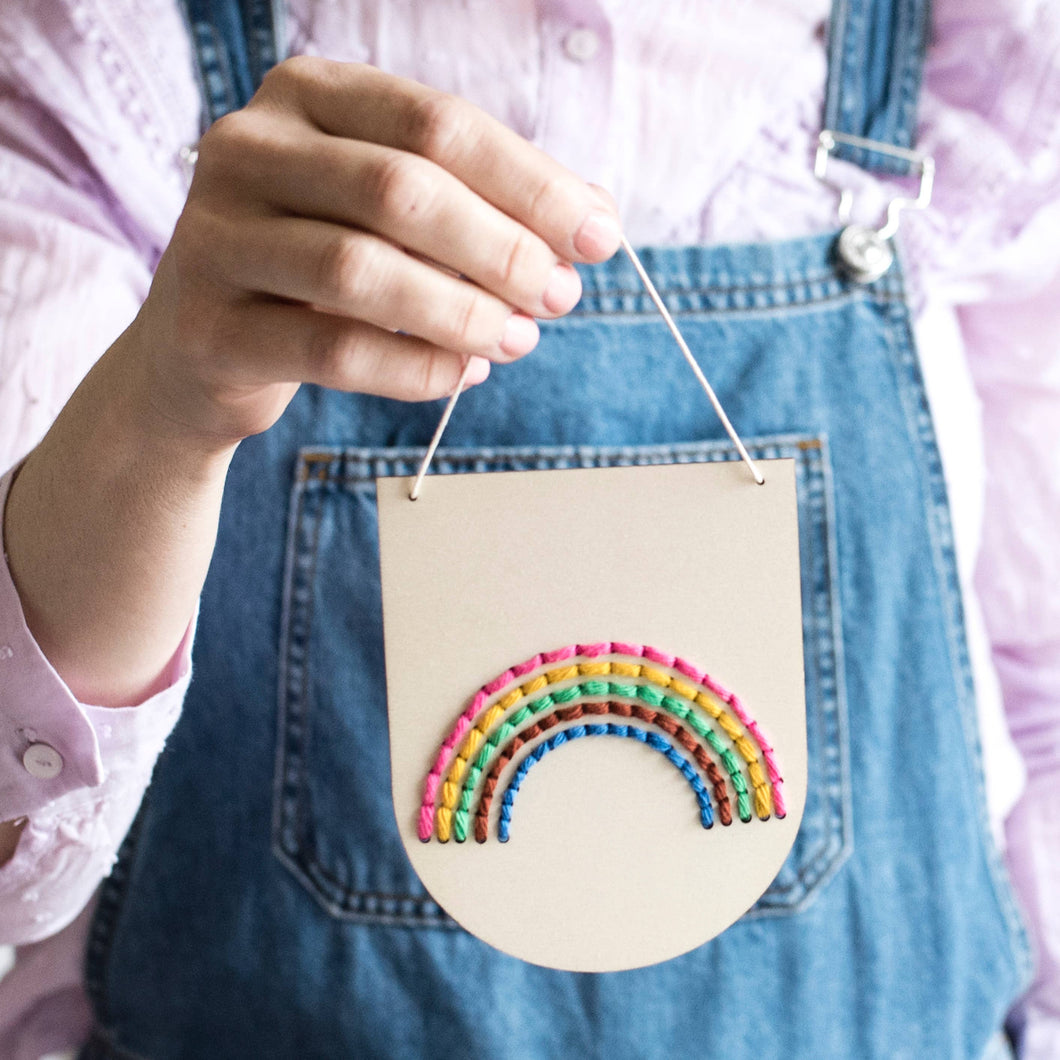 Rainbow Embroidery Banner Kit
